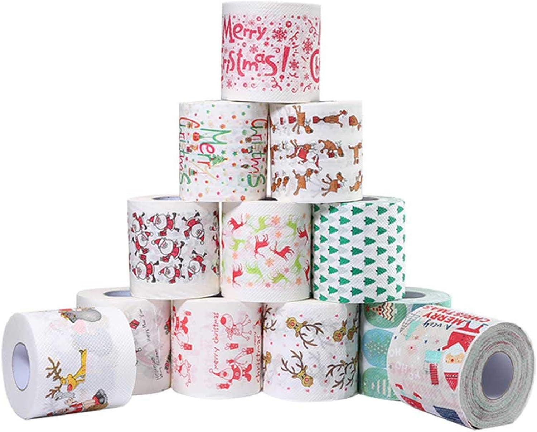 KOBWA Papiertücher für WC-Esstisch, Weihnachtsmotiv 12 Rolls B07JMZ476X | Niedrige Kosten  | Meistverkaufte weltweit  | Ausgewählte Materialien