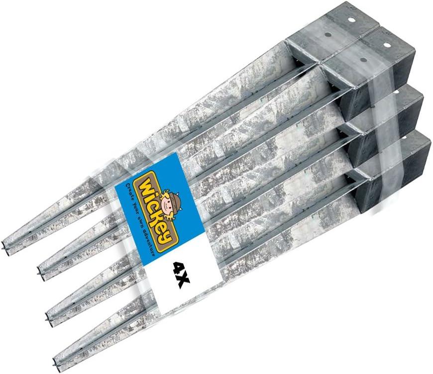 Erdanker Pfostenträger Einschlagbodenhülse Schrauben 2-er Set Bodenhülse 7x7