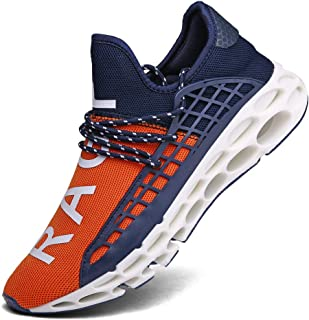 XIDISO Men Running Shoes Stylish Sneakers Mens Fashion Casual Walking Shoes Outdoor Running Blade Sneakers