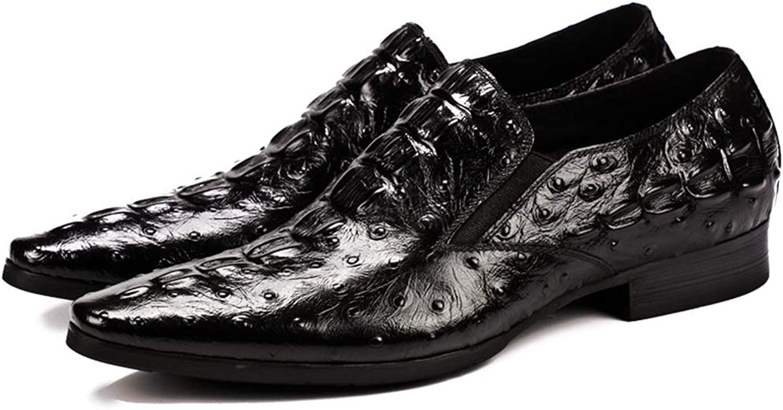 Skor i herrkläder Crocodile Mönster England Läder läder spetsiga fötter Skor