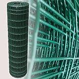 Maschendraht für Gartenzaun, Grün, 25m, Höhe 120cm, Maschengröße 5x10cm