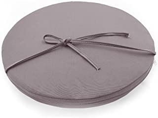 Sigmat Indoor/Outdoor Seat Cushions Waterproof Round Bar Stool Cushion Solid Chair Pad Light Grey 19 Inch