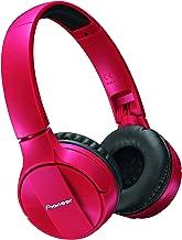 Pioneer Bluetooth Lightweight On Ear Wireless Stereo Headphones, Red SE-MJ553BT(R)