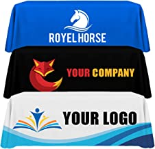 Personalized Add Your Own Logo Custom 8 Feet Regular Table Cloth for Tradeshow Events