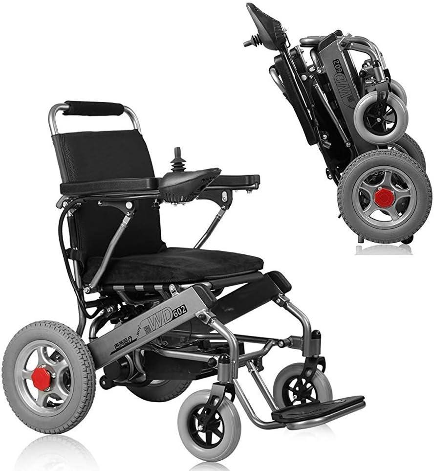 KAD Silla de ruedas eléctrica Silla de ruedas plegable ultra portátil, 250W 24V 20Ah Batería de iones de litio Pesos solo 33 lb fgj