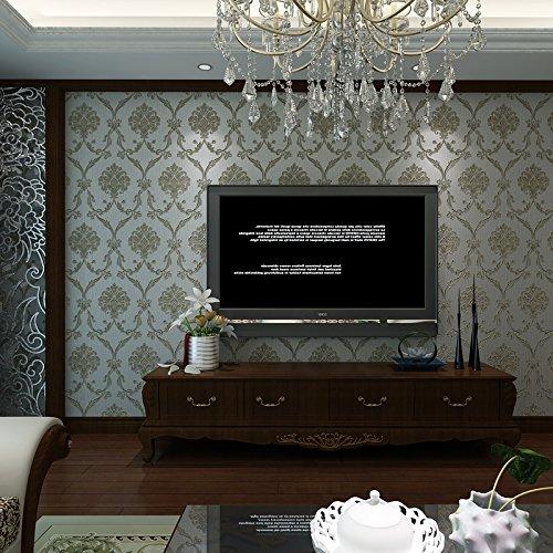 Sépia haute qualité chaud continental Kim Joo-ray 3D stéréoscopique du papier mural sculpté chambre salon restaurant mur papier peint vert rétro, allées