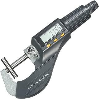 """KKmoon 0–25mm Fuera Micrómetro digital de alta precisión electrónica Micro pinza herramienta de medida de longitud a SC 0.00005""""Resolución/0.001mm pulgadas/métrico conversión"""