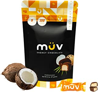 Sponsored Ad - MUV Energy Chocolate Truffles - Coconut Coffee Chocolate Truffles - Healthy Snacks for Adults - Caffeinated...