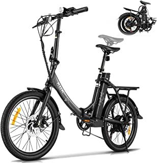 """HIFRRUY Electric Bicycle, 20"""" Electric Folding Bike for Adults and Teenagers, Commuter E-Bike with 36V/10.4Ah Removable Li..."""