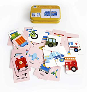 Baby Infant 32pcs Flash Card Jigsaw cognition Puzzle Shape Matching Puzzle Cognitive Learning Early Education Card Learnin...