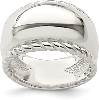 925 Sterling Silver Twisted Dome Stacked Band Ring Stackable Fine Jewelry Gifts For Women For Her