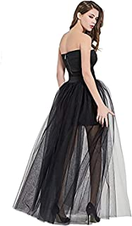 369754a2fc Sexy Women's Mesh 4 Layers Overlay Long Tulle Skirt Floor Length Wedding  Party Tutu Skirt Party