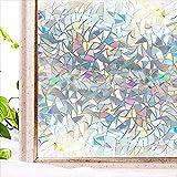 Película de privacidad Opaca 3D Etiqueta de Vidrio autoadhesiva Anti-Ultravioleta Etiqueta de Vidrio Decorativa para Puertas y Ventanas de casa U 40x200cm