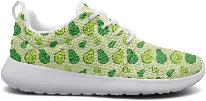 Ktyyuwwww Beautiful Women colorful Camping Avocado Slicer Cool Sports Running shoes