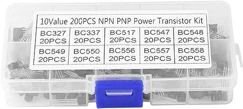 200pcs 10 Valori NPN PNP TO-92 BC327-BC558 Assortimento di Transistor Kit Fai da Te per Professionisti elettronici o Appassionati ARCELI Transistor Assortito