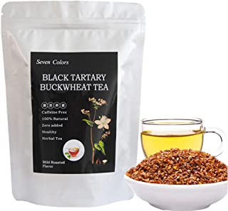 Seven Colors - Tartary Buckwheat Tea - Roasted Buckwheat Tea - Christmas Tea - Black Tartary Buckwheat - Soba tea - Caffei...
