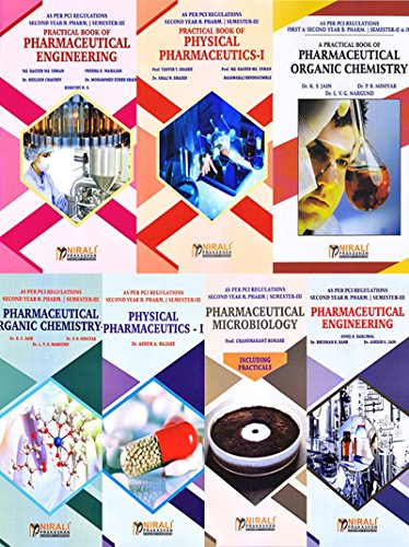 Second Year B. Pharm. SEM-III Text & Practical books (As per PCI: Set of 7 Books)