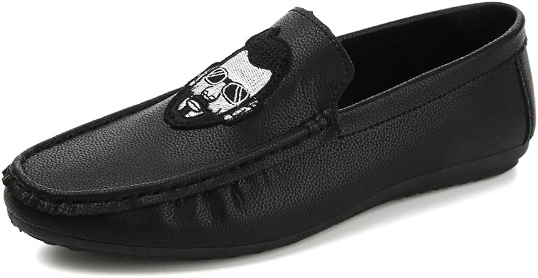 HUAN Mans skor PU Springaa sommar ljus s Soles Comfort Loafers och Slip -ON gående skor Casual utomhus svart röd vit