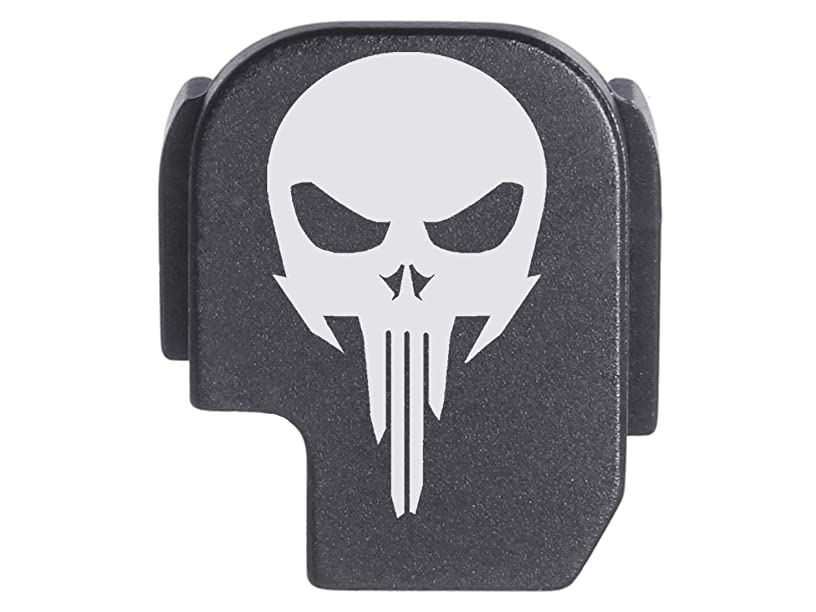 for Sig P365 Back Plate Rear Slide Cover Black NDZ - NDZ Skull 1