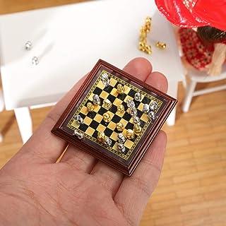 IG Juego de Ajedrez 1:12 Mini Mini Modelo de Ajedrez Conjunto de Ajedrez de Bolsillo Exquisito Tablero de Ajedrez Juguete ...