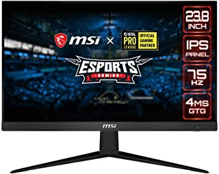 "MSI 24"" FHD (1920 x 1080) Non-Glare with Super Narrow Bezel 75Hz 1ms 16:9 HDMI/DP AMD Radeon FreeSync IPS Gaming Monitor (..."