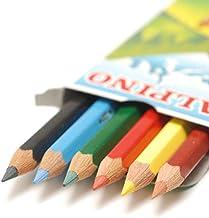 スペイン製 【ALPINO】 ミニ 六角形 色鉛筆 6色セット手のひらサイズ 軽量 パッケージ