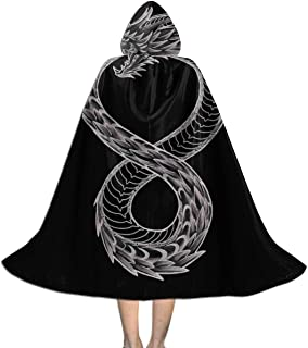 SEDSWQ Ouroboros Takeshi Kovacs Tattoo Altered Carbon Unisex Kids Hooded Cloak Cape Halloween Xmas Party Decoration Role Cosplay Costumes