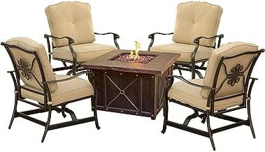 Cambridge Outdoor Bradford 5-Piece Conversation Set with Durastone Fire Pit Table
