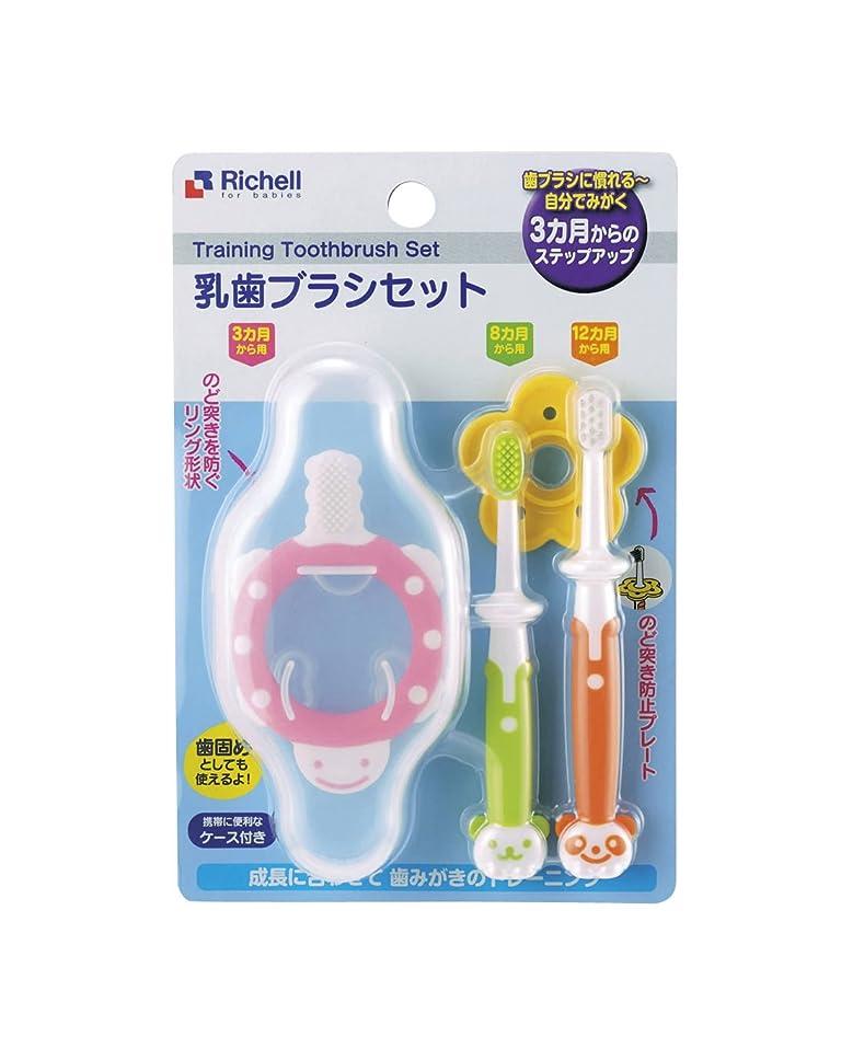 パテ素子白いリッチェル 乳歯ブラシセット