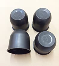 4 Black Trailer Wheel Hub Center Cap 4.25