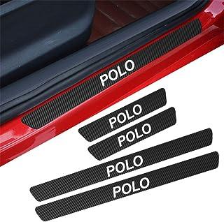 Autocollant de Protection de seuil de Porte de Voiture Protection de Porte de Voiture Compatible Polo YYD Protecteur de seuil de Porte 8PCS