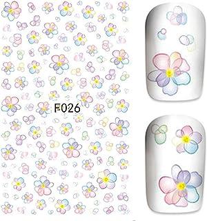 水彩 お花パターンネイルステッカー