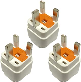 Travel Adapter for UAE/KSA/UK/HK, Plug for US/AU/JP/CN Electronic Appliance Adapt to UK 3 Pins Outlet with Eaton Bussmann ...