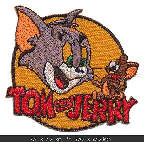 RG20 Tom und Jerry Patch Aufnäher Bügelbild Cartoon Comics Zeichentrick