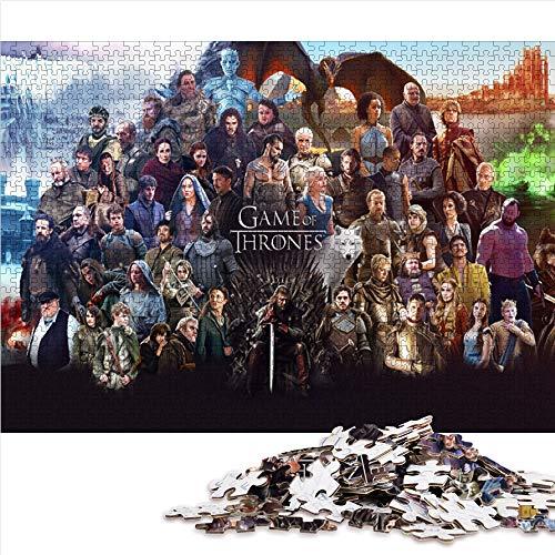 Visionpz 1000 Stück Puzzles für Erwachsene Teenager Game of Thrones Klassisches Puzzle Filmplakat Puzzle-Lernspiel für den Stressabbau bei Erwachsenen 75x50cm