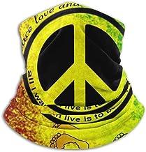 Bandana Calentador De Cuello,Rasta Footprint Bandera Africana Signo De La Paz Decoración Facial, Proteger Pañuelo Multifuncional para Correr Adulto Y Unisex,25X30Cm