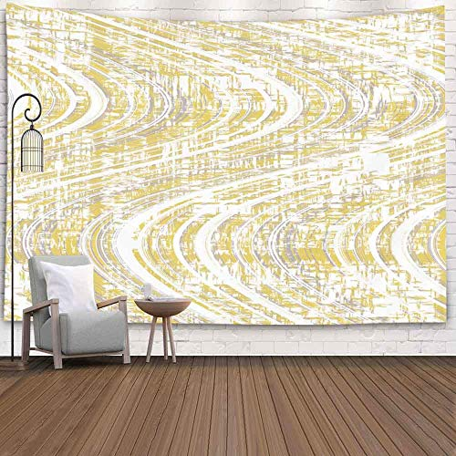 Halloween Tapestry, Snowman TapestryWinter Hanging Wall Tapestry para D & Eacute; Cor Living Room Patrón de Onda Colorido a Rayas para Textura de Arte Diseño de Grunge y Papel Vintage
