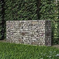 vidaXL Cesta Muro Gaviones Jardín 200x50x100 cm Pared Piedras Malla Metálica