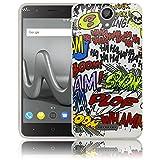 thematys Passend für Wiko Harry Comic Haha Silikon Schutz-Hülle weiche Tasche Cover Case Bumper Etui Flip Smartphone Handy Backcover Schutzhülle Handyhülle