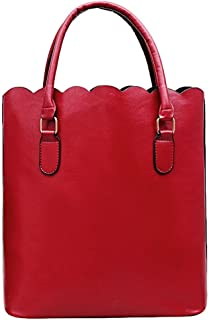 Rakkiss Girls Vintage Lace Bag Women Leather Shoulder Bag Handbag Pure Color Bag Tote Shop Bag