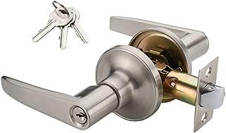 MANREN Lever Keyed Entry Door Lever Handle Lock, Universal Door Knob Hardware (MR802ET)
