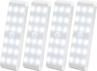 LED Closet Light,18-LED Dimmer USB Rechargeable Motion Sensor Closet Light Under Cabinet Wireless Stick-Anywhere Night Lig...