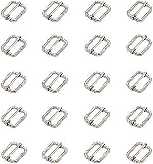 Leen4You 25mm Metal Adjustable Slide Buckle Strap Slides Webbing Slider Belts Buckle for Making Handbag, Backpack, Luggage...