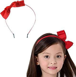 Cute Big Bowknot Red Headband For Little Girls Dress Up Birthday Party,Halloween,Christmas(Red)