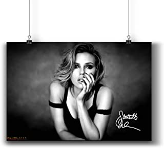 Scarlett Johansson Actress Movie Photo Poster Prints 249-007 Reprint Signed,Wall Art Decor for Dorm Bedroom Living Room (A4|8x12inch|21x29cm)