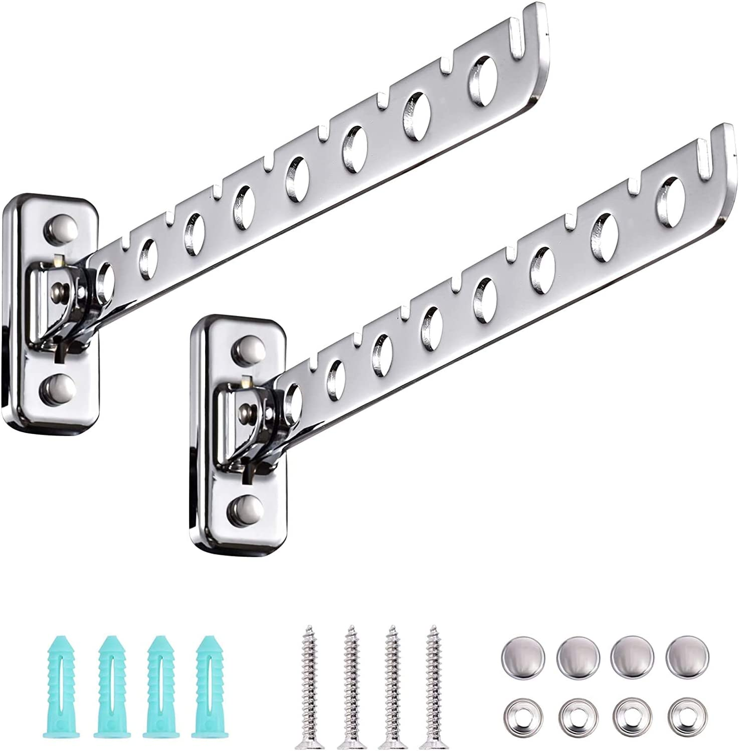 YWMXDZ Wall Mounted Award Drying Sale special price Rack with Hook Swivel Foldable Arm