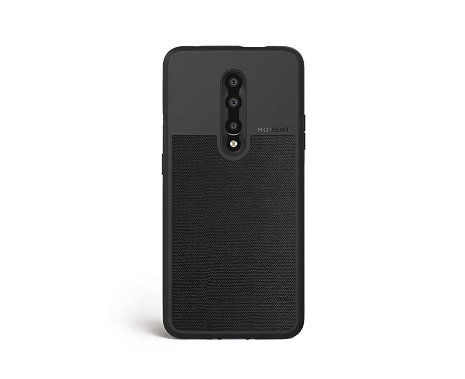 OnePlus 7 Pro Case || Moment Photo Case in Black Canvas - Thin, Protective, Wrist Strap Friendly case for Camera Lovers.