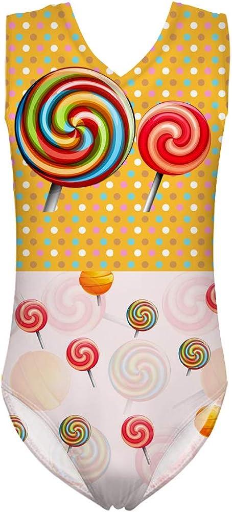 INSTANTARTS Summer Candy Leotard Girl Gymnastics Kid Children Biketard Shortall