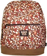 product image for Backpack Brown Circle Sued Bottom Backpack Gorgeous print Made in U.s.a.