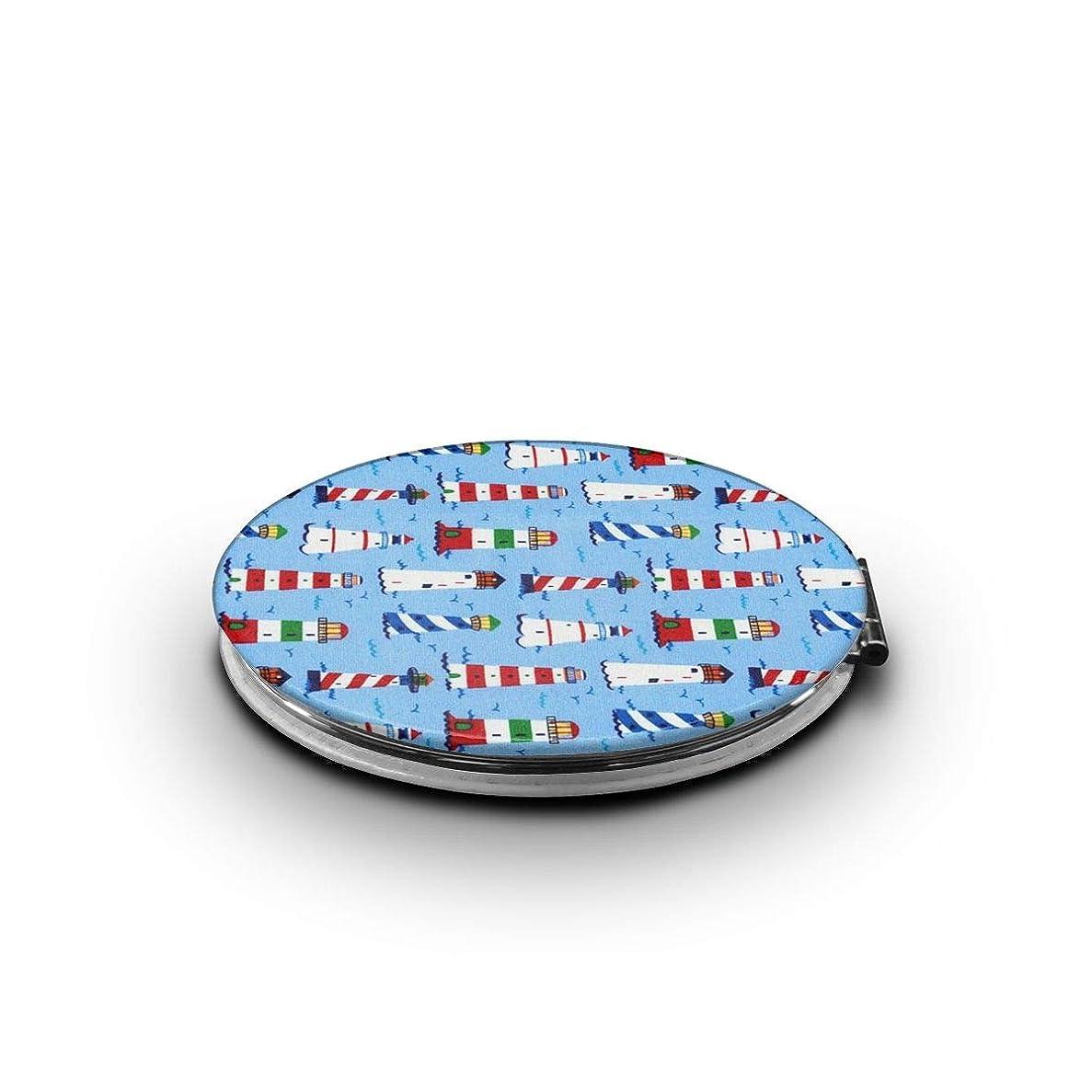 ベリー連帯電極携帯ミラー 灯塔ミニ化粧鏡 化粧鏡 3倍拡大鏡+等倍鏡 両面化粧鏡 楕円形 携帯型 折り畳み式 コンパクト鏡 外出に 持ち運び便利 超軽量 おしゃれ 9.0X6.6CM